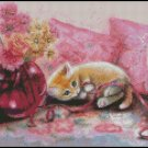 THREE KITTENS cross stitch pattern