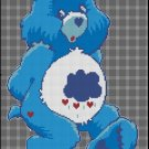 CARE BEAR cross stitch CROCHET pattern