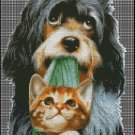 DOG AND CAT cross stitch pattern