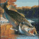 Cartwheeling Bass cross stitch pattern