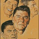 PRESIDENT REAGAN cross stitch pattern