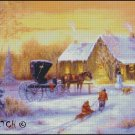WINTER COTTAGE 1 cross stitch pattern