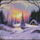 WINTER COTTAGE 4 cross stitch pattern