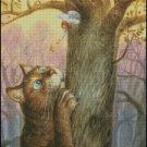 ANGEL AND CAT cross stitch pattern