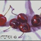 FIVE CHERRIES cross stitch pattern