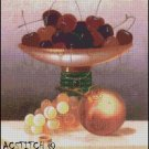 Still Life with Fruit on a Ledge cross stitch pattern