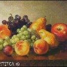 AN ARRANGEMENT OF FRUIT cross stitch pattern