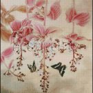 FLOWERS AND BUTTERFLIES cross stitch pattern