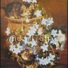 MISCHIEVOUS KITTENS cross stitch pattern