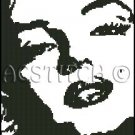 MARILYN MONROE 19 cross stitch pattern
