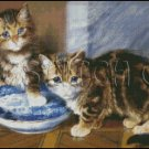 TWO KITTIES cross stitch pattern