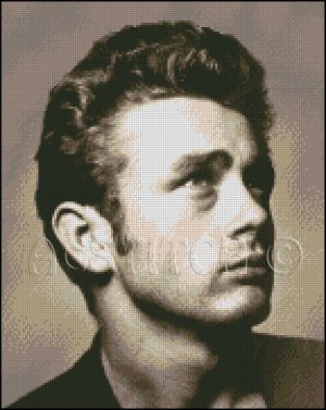 JAMES DEAN 2 cross stitch pattern