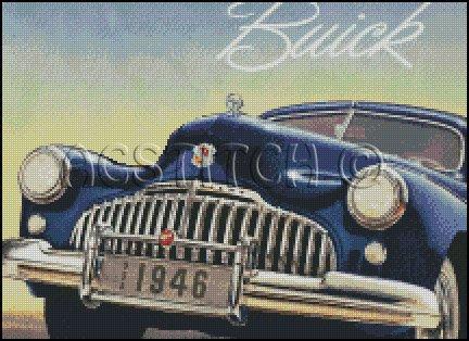 BUICK 1946 cross stitch pattern