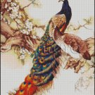 TWO PEACOCKS 3 cross stitch pattern