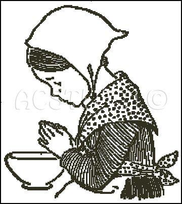 PRAYER FIFINE cross stitch pattern
