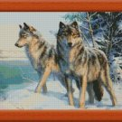 TWO WOLVES cross stitch pattern