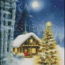 CABIN IN WOODS cross stitch pattern