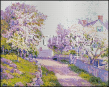 GLOCESTER LANE cross stitch pattern
