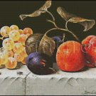 STILL LIFE WITH FRUITS AND NUTS cross stitch pattern
