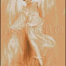 VINTAGE WOMAN cross stitch pattern