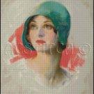 VINTAGE WOMAN PORTRAIT 2 cross stitch pattern