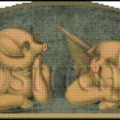 VINTAGE PIGS ANGELS cross stitch pattern