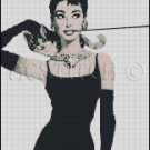 AUDREY HEPBURN 15 cross stitch pattern