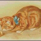 VINTAGE CAT cross stitch pattern