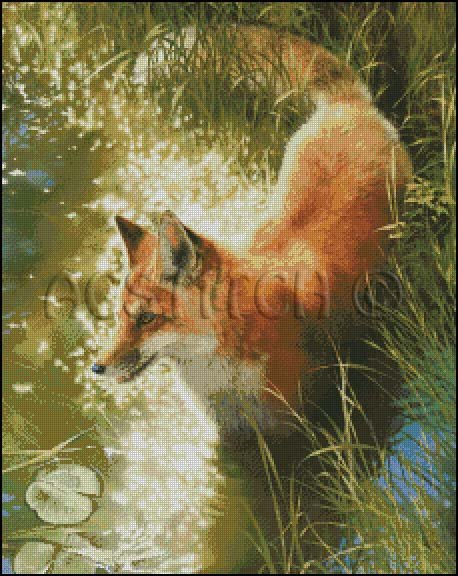 OUTFOXED cross stitch pattern