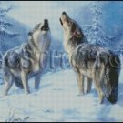 WOLVES cross stitch pattern