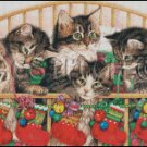 CHRISTMAS KITTENS cross stitch pattern