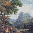 SHEPHERD In THE ALPS cross stitch pattern