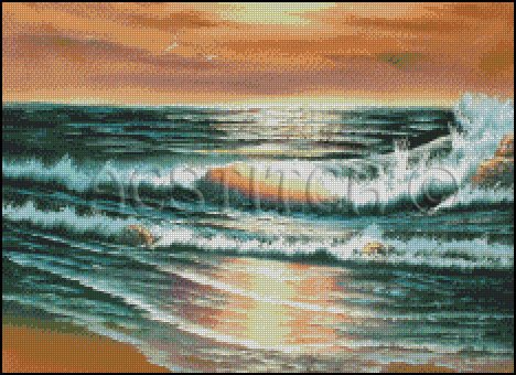 WATERFRONT cross stitch pattern