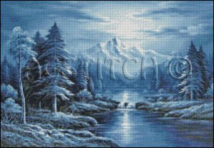 UNDER MOONLIGHT cross stitch pattern