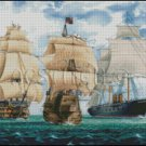 THREE SHIPS cross stitch pattern