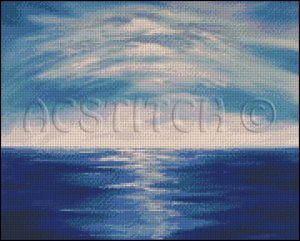 TRANQUIL HORIZON cross stitch pattern