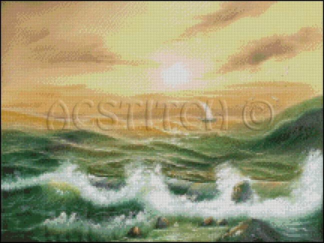 BEFORE THE STORM cross stitch pattern