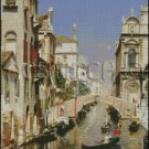 A VENETIAN CANAL cross stitch pattern