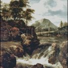 A WATERFALL cross stitch pattern