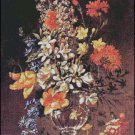 VASE OF FLOWERS cross stitch pattern
