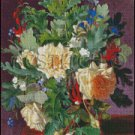 A STILL LIFE WITH YELLOW ROSES cross stitch pattern