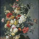 A STILL LIFE WITH FLOWERS cross stitch pattern