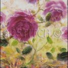 VIOLET ROSES cross stitch pattern