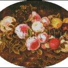 STILL LIFE WITH FLOWERS cross stitch pattern