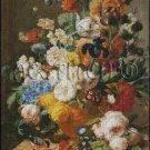 BOUQUET OF FLOWERS IN A VASE cross stitch pattern
