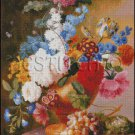 STILL LIFE OF TULIPS, PEONIES cross stitch pattern
