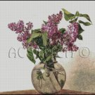 LILACS cross stitch pattern