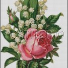 LILY OF THE VALLEY, ROSE cross stitch pattern