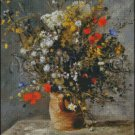 FLOWERS IN A VASE cross stitch pattern