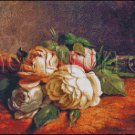 STILL LIFE OF ROSES cross stitch pattern